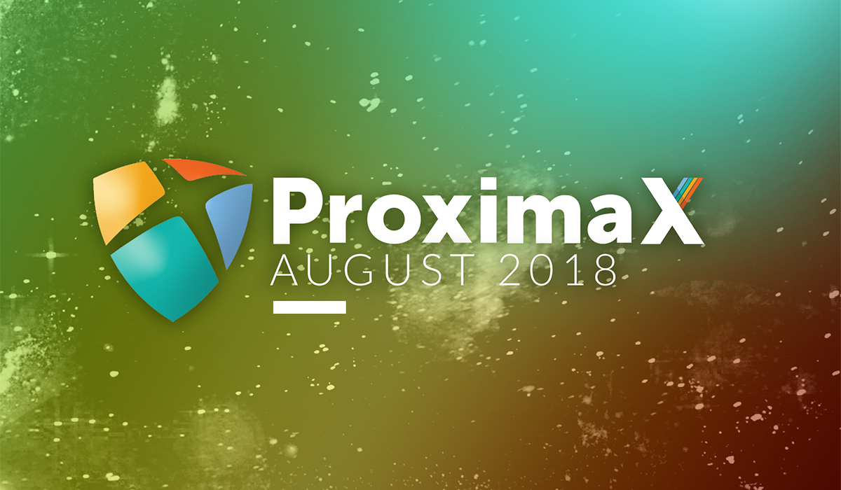 ProximaX Tech – August 2018