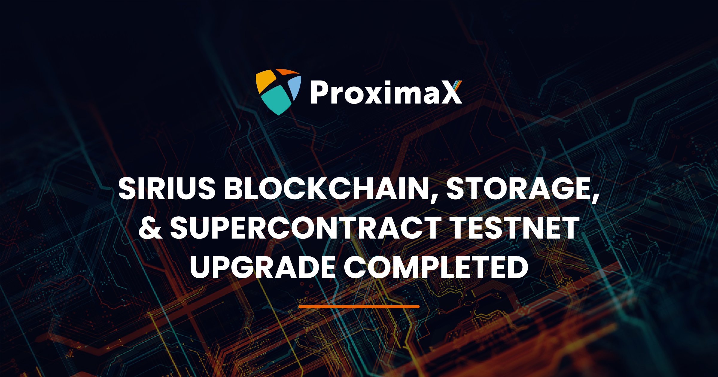 proximax sirius chain tech update
