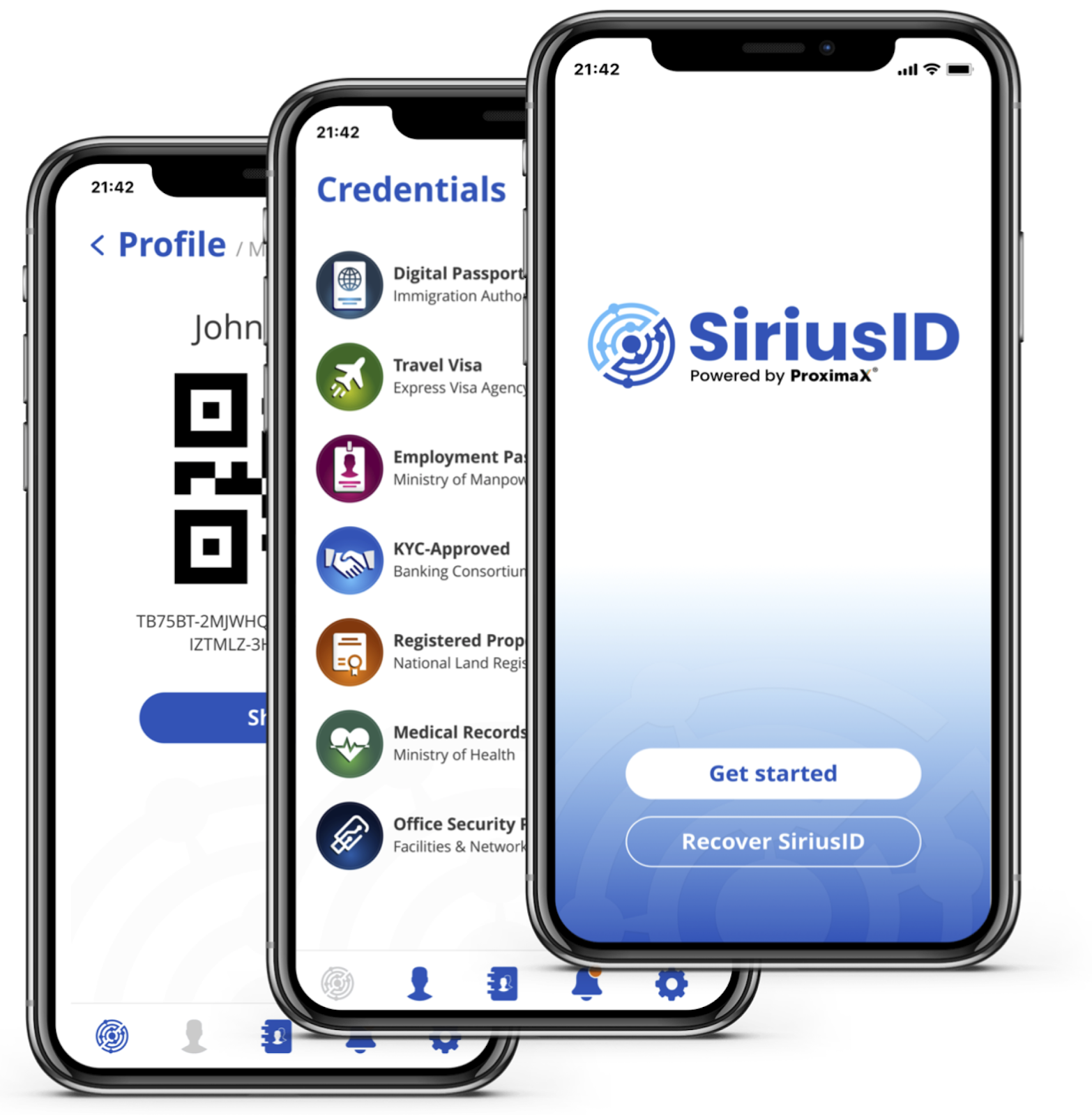 ProximaX SiriusID - Aplicación Móvil