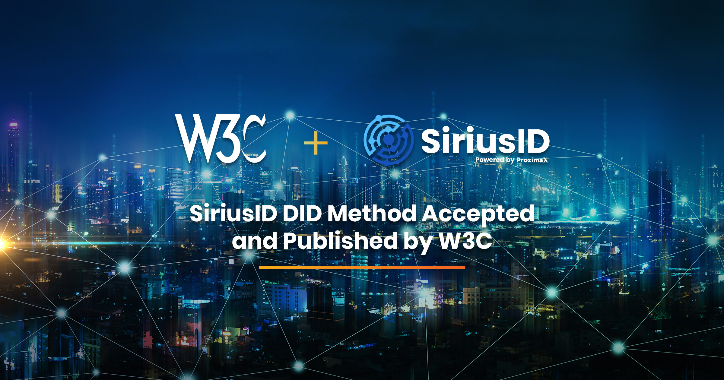 ProximaX SiriusID Decentralized Identifier Method Accepted and Published by W3C