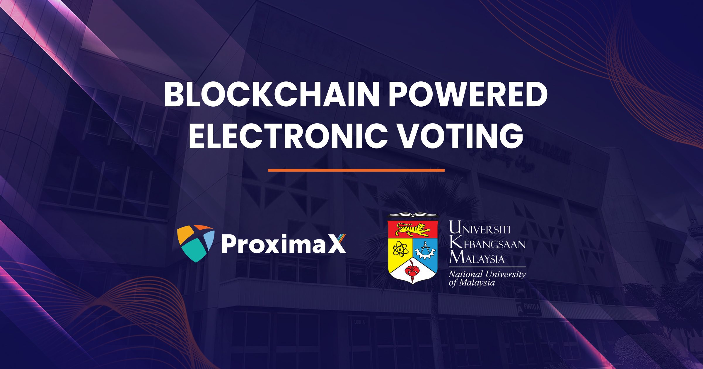 blockchain powered electronic voting ProximaX