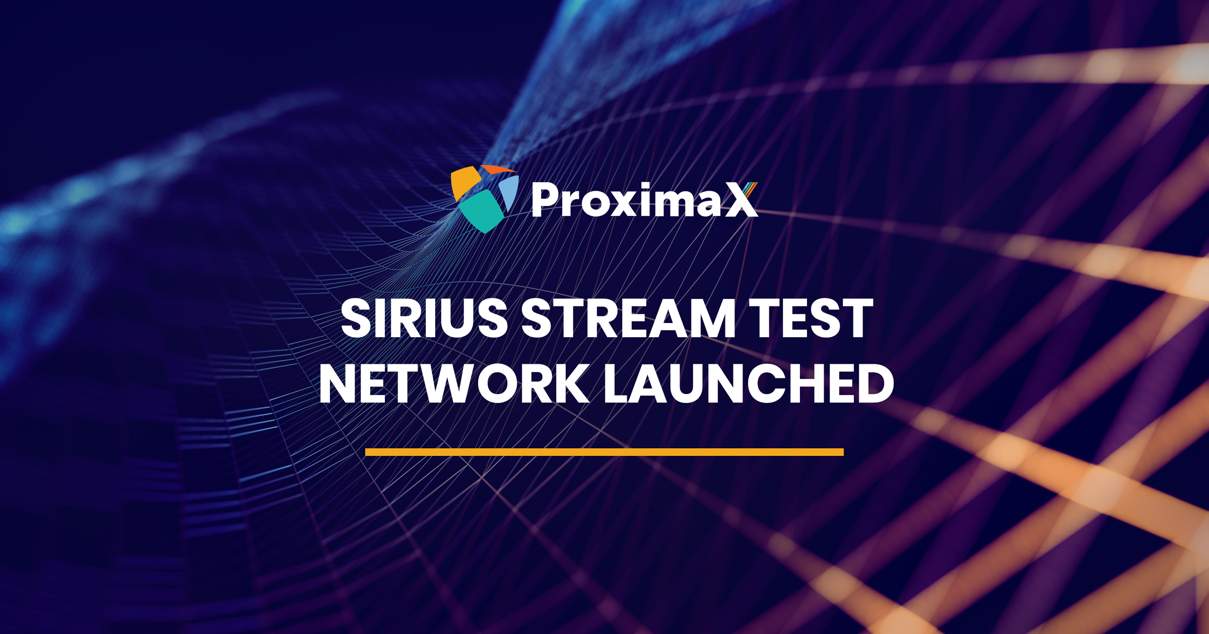 Sirius Stream Test Network Launched