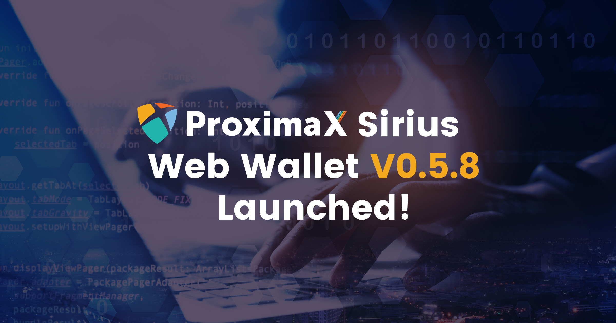 Запущена новая версия веб-кошелька ProximaX Sirius v0.5.8