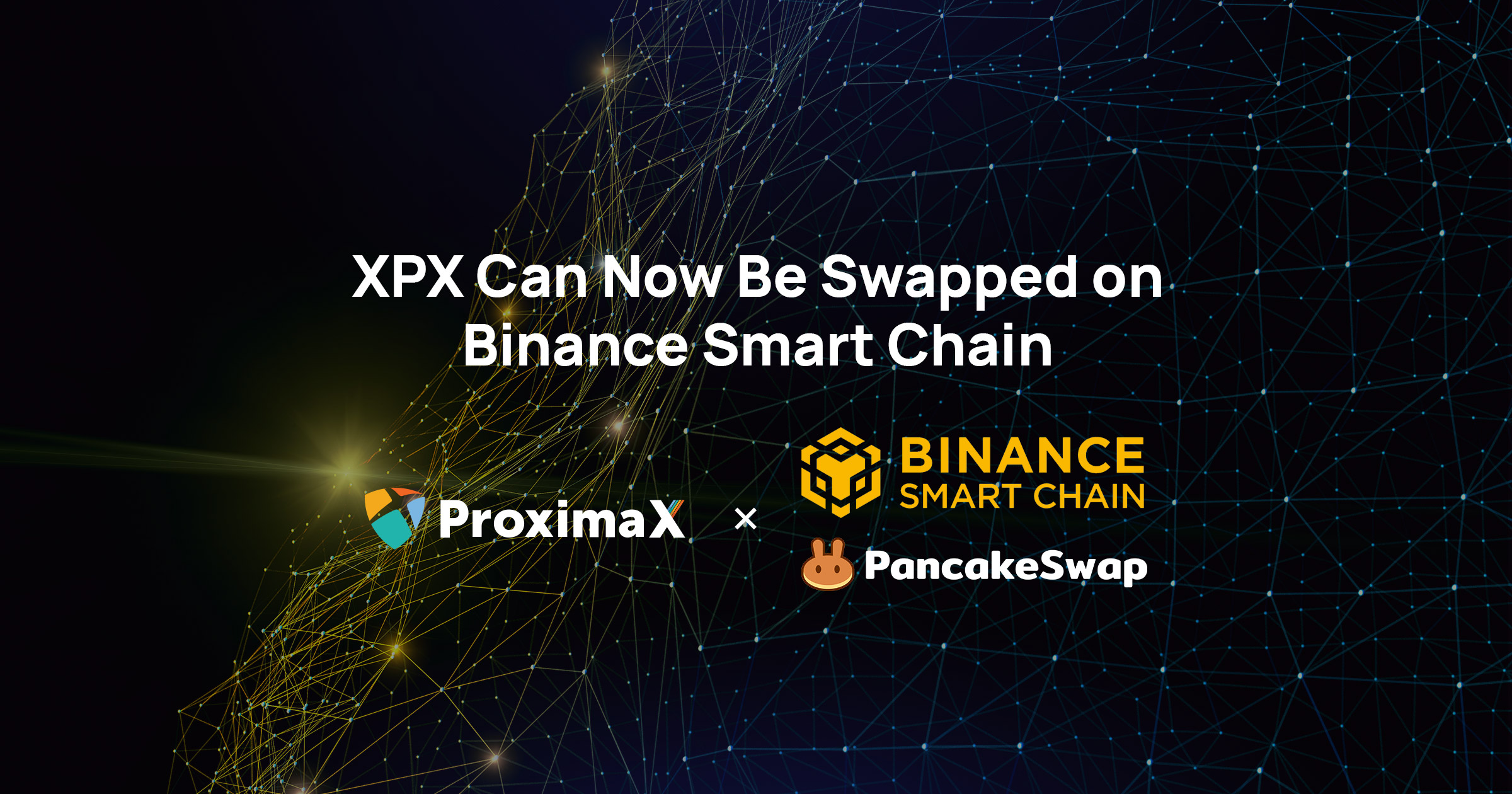 XPX CAN NOW BE SWAPPED ON BINANCE SMART CHAIN